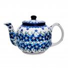 Pottery Avenue MOD FLORAL 4.5-Cup Classic Stoneware Teapot - 596-DU233