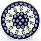 "Polish Pottery PEACOCK TULIP 7.75"" Stoneware Salad Plate | CLASSIC"