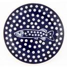 "Pottery Avenue 7.75"" Stoneware Salad-Luncheon Plate - 814-DU984 Doty Fish"
