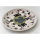 """Pottery Avenue 7.75"""" Stoneware Salad-Luncheon Plate - 814-DU124 Spiders N Spooks"""