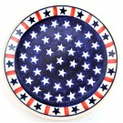 "Pottery Avenue 7.75"" Stoneware Salad-Luncheon Plate - 814-927 Americana"