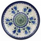 "Pottery Avenue 7.75"" BLUE TULIP Stoneware Salad Plate | UNIKAT"