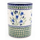 "Pottery Avenue 7"" Stoneware Utensil-Jar-Crock - 832-160AR Blue Tulip"