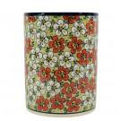 Pottery Avenue Red Bacopa Utensil Jar-Vase-Crock-Bottle Chiller - 832-331AR