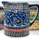 Polish Pottery BLUE PANSY .7L Cylinder Pitcher | UNIKAT