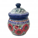 """Pottery Avenue 4.3 X 4.6""""  Stoneware 1.8 cup Canister - 917-257EX Bellissima"""