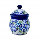 """Pottery Avenue 4.3 X 4.6""""  Stoneware 1.8 cup Canister - 917-DU207 True Blue"""