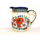 Polish Pottery 3.6 Cup EMPRESS Pitcher | UNIKAT