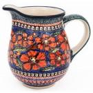 Polish Pottery 3.6 Cup CHERISHED FRIENDS Pitcher | UNIKAT