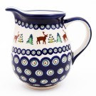 Polish Pottery 3.6 CARIBOU LODGE Cup Pitcher | CLASSIC
