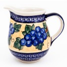 """Pottery Avenue Grapes 3.6 Cup Stoneware Pitcher - 5.66"""" Tall"""
