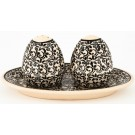 Pottery Avenue ELEGANT TIMES Salt And Pepper Tray Set | CLASSIC