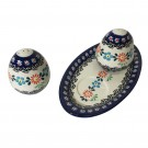 Pottery Avenue Heritage 3pc Stoneware Salt and Pepper Trio - 961-961-1144A
