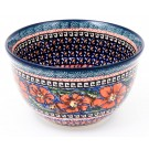 Polish Pottery CHERISHED FRIENDS 4-Cup Stoneware Mixing Bowl | UNIKAT