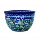 Polish Pottery Blue Sally 248AR  4-Cup Stoneware Mixing Bowl   UNIKAT