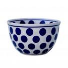 Polish Pottery Big Polka D61  4-Cup Stoneware Mixing Bowl   UNIKAT