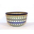 "Polish Pottery 6"" ENCHANTING Mixing Bowl 