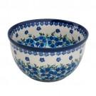 Polish Pottery MOD FLORAL DU233  4-Cup Stoneware Mixing Bowl   UNIKAT
