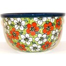 "Polish Pottery 6"" RED BACOPA Mixing Bowl 