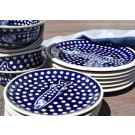 Polish Pottery FIN & FUN 18-Piece Stoneware Dinner Set | CLASSIC