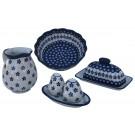 Pottery Avenue 4pc Flowering Peacock Combo Designer Essentials Stoneware Kit