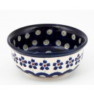 POLISH POTTERY STONEWARE Small Bowl |FLOWERING PEACOCK