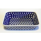 "Polish Pottery STARS 12"" Rectangle Stoneware Serving Tray 