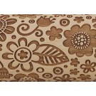 "Pottery Avenue Brings Wooden Corner's Embossed 10"" Rolling Pin - LEP-019-Large Boho Flower"