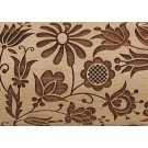 """Pottery Avenue Brings Wooden Corner's Embossed 10"""" Rolling Pin - LEP-003-Quilted Floral"""