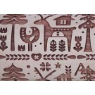 "Pottery Avenue 10"" Embossing Rolling Pin FOREST HOLIDAY - LEP-042"