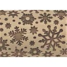 "Pottery Avenue 10"" Snow Flurry Embossed Rolling Pin Pattern - LEP-043"