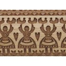 "Pottery Avenue Brings Wooden Corner's Embossed 4.5"" Rolling Pin Pattern - SEP-081-Folk Dance"