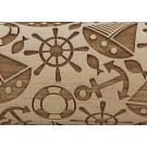 """Pottery Avenue 10"""" Nautical Embossed Rolling Pin Pattern - LEP-109"""