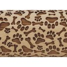 """Pottery Avenue Dog Park 10"""" Embossing Rolling Pin - LEP-111"""