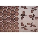 """Pottery Avenue 10"""" Embossing Rolling Pin HONEY BEES - LEP-243"""