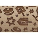 Pottery Avenue - Wooden Corners Mazel Tov Embossed Roling Pin - :LEP-303