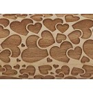 """Pottery Avenue 10"""" Double Love Embossed Rolling Pin Pattern - LEP-012"""