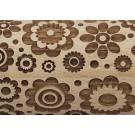 "Pottery Avenue Brings Wooden Corner's Embossed 10"" Rolling Pin - LEP-017-Medium Boho Flower"