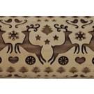 "Pottery Avenue 10"" Reindeer Dance Embossed Rolling Pin Pattern - LEP-041"