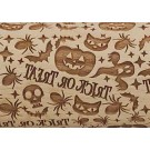 "Pottery Avenue Trick or Treat 10"" Embossed Rolling Pin Pattern - LEP-052"