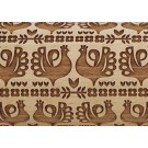 """Pottery Avenue Peacock 10"""" Embossing Rolling Pin Pattern - LEP-082"""
