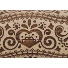 "Pottery Avenue 10"" Heart Moments Embossed Rolling Pin Pattern - LEP-103"