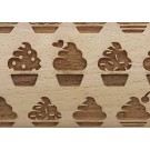 "Pottery Avenue Brings Wooden Corner's Embossed 4.5"" Rolling Pin Pattern - SEP-124 Cup Cake"