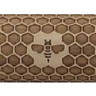 """Pottery Avenue Honeycomb 10"""" Embossing Rolling Pin Pattern - LEP-242"""