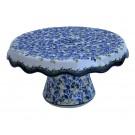 Pottery Avenue Pedestal Cake Stand 1762-DU208 Blue Flower