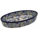 "Pottery Avenue Artisan 11"" Oval Stoneware Baker - 349-DU207 True Blues"