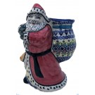 Pottery Avenue Vena Joann Stoneware Santa with Bag