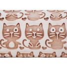 """Pottery Avenue and Wooden Corner brings you these wonderful 4.5"""" embossing rolling pins - SEP-093 I LOVE CATS"""