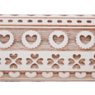 """Pottery Avenue and Wooden Corner brings you these wonderful 4.5"""" embossing rolling pins -  SEP-153 HEART RIBBON"""