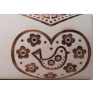 """Pottery Avenue and Wooden Corner brings you these wonderful 4.5"""" embossing rolling pins - SEP-165 HEART GRAM"""